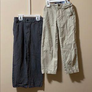 Boys size 6 Khaki pants & grey dress pants size 6